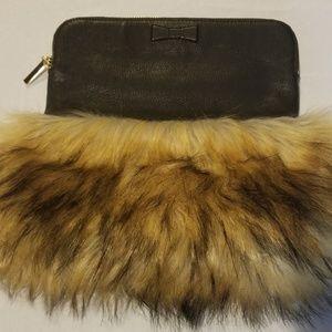 kate spade Bags - Kate Spade Leather/Fur Clutch